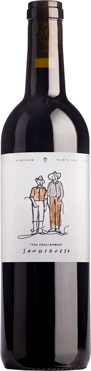 "Bottle of 2015 Sangiovese ""The Englishmen"""